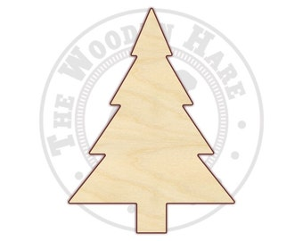 "3"" - 12"" Christmas Tree Wood Cutout  - 170215 - Unfinished wood, Various sizes"