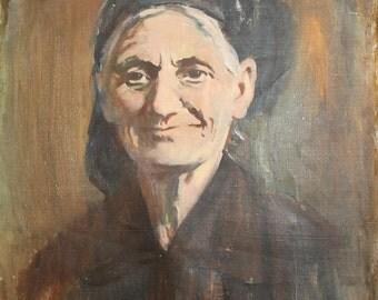 1982 Woman Portrait Oil Painting Impressionism Signed