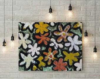 flower art, canvas flower wall art, bedroom wall art, digital download photography, instant download printable, flowers, wall art,