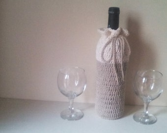 Crochet wine cover, bottle cozy, wine bottle cozy, hostess gift, wine bottle tote, Crochet wine tote