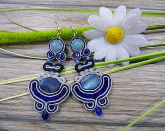 earrings / soutache technique / handmade 9cm