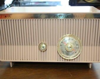 Vintage Mid Century  1960's Arvin 10R19  Am Tube Radio. Full electronic restoration