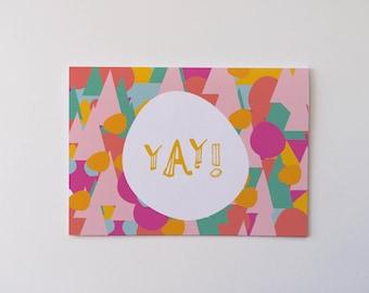 YAY greeting card