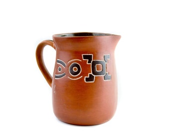 Red Clay Pitcher Indigenous Art
