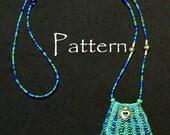 Bead Knit Paulette Necklace Purse or Amulet Bag Pattern