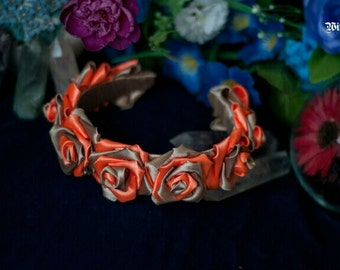 "Headband ""Orange souffle"""