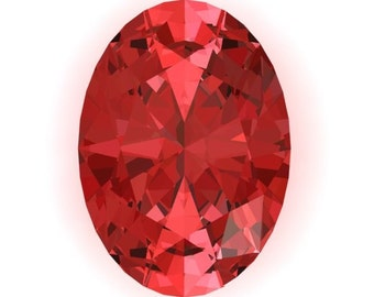 Genuine Oval Chatham Lab Created Padparadscha Sapphire, Loose Gemstone, Eco Conscious, AAA Quality, 3 Sizes Available