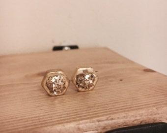 Industrial Glam Druzy Inspired Studs / Hardware Jewelry