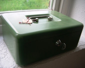 Tank Buster vintage cash box, box, box office, box for jewelry or diary - SKU 1354