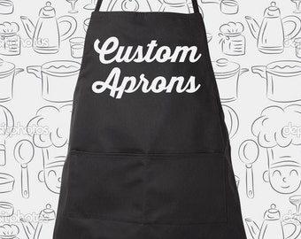 Custom Apron great gift item, Custom Chef Aprons, choose different color aprons