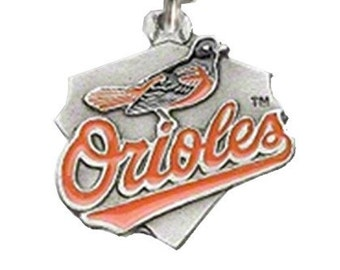 Baltimore Orioles Triangle Baseball Charm