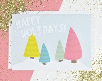 Greeting Card - Holiday Trees