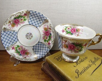 Vintage L M Royal Halsey Very Fine China Teacup and Saucer