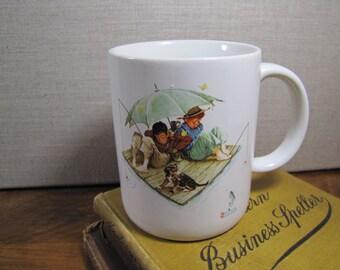 Vintage Mug - Norman Rockwell's Fisherman's Paradise