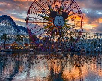 Fun Wheel Sunset