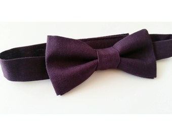 Plum Bowtie / Purple Bowtie / Dark Purple Bowtie / Purple Wedding / Wedding bow ties / Boys bow ties / mens bow ties/ sweet 16 / newborn