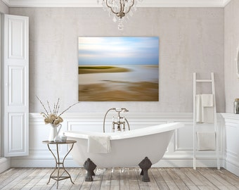 Chapin Beach ~ Dennis, MA Cape Cod, Canvas Gallery Wrap, Abstract, Beach, Photography, Nautical, Coastal Home Decor, No Frame Needed,Artwork