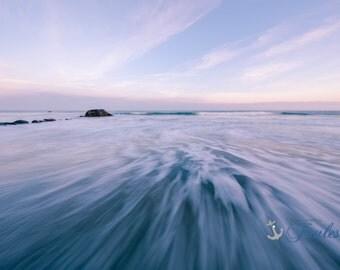 Twilight ~ Scarborough Beach, Narragansett, Rhode Island, New England, Ocean, Coastal, Seascape, Art, Photograph, Home Decor, Art