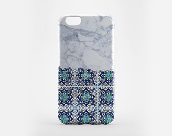 Marble iPhone 6S Case Talavera Mexican Tile iPhone 6 Case Marble iPhone SE Case iPhone 6 Plus Cover White Marble Galaxy S7 Case Gift for Him