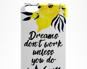 Quote iPhone 7 Case Flower iPhone 6 Clear Case Flower iPhone 7 Plus Case Quote iPhone 6 Case Galaxy S7 Clear Case iPhone 7 Cover Xperia Z3