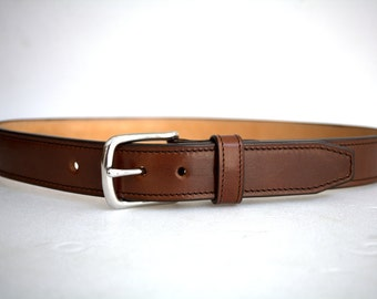 leather gun belt 1.5'' heavy duty casual handmade veg tan steel buckle