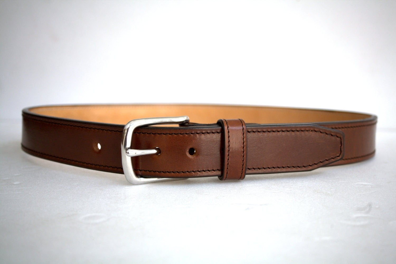 leather gun belt 1 5 heavy duty casual handmade veg