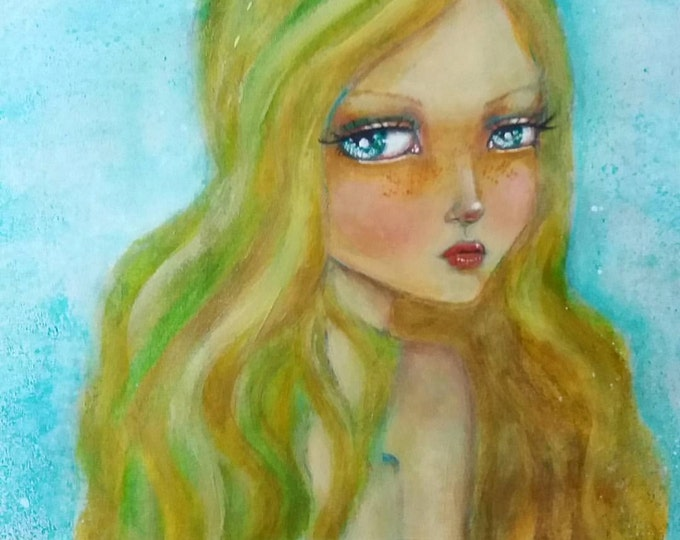 Amatheia the Mermaid 03 Original Painting