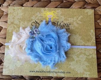 Baby Blue & Ivory Headband