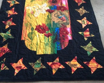 Beautiful  Lap quilt/wall hanging