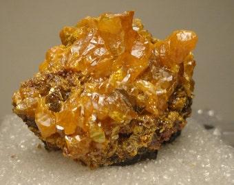 Orpiment Vivid Yellow Crystal Cluster Quiruvilca Mine, Peru