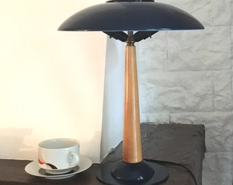 Desk vintage mushroom lamp - lamp 70s - seventies desk lamp