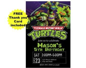 Teenage Mutant Ninja Turtles Birthday Invitation - Teenage Mutant Ninja Turtles Invitation - Printable Invitation - Digital