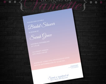 Gradient Bridal Shower Invite, Color Swatch Invite, Bridal Invite, Bridal Shower Invite, Wedding Shower Invite, Bridal Shower, Swatch Invite