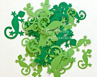 Gecko Die Cuts, Gecko Confetti, 20 Ct.
