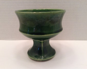 McCoy Green Planter  ~ Footed Planter~ Pedestal Planter ~ McCoy USA
