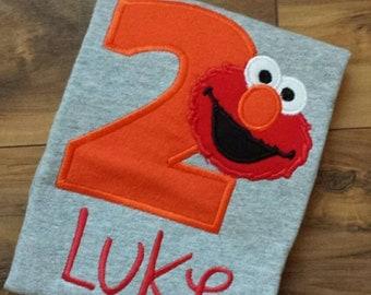 Elmo Birthday Shirt - ANY Color/Age
