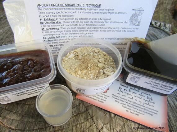 Natural Vanilla Brown Sugar Scrub Sugaring Paste Deluxe Starter Kit