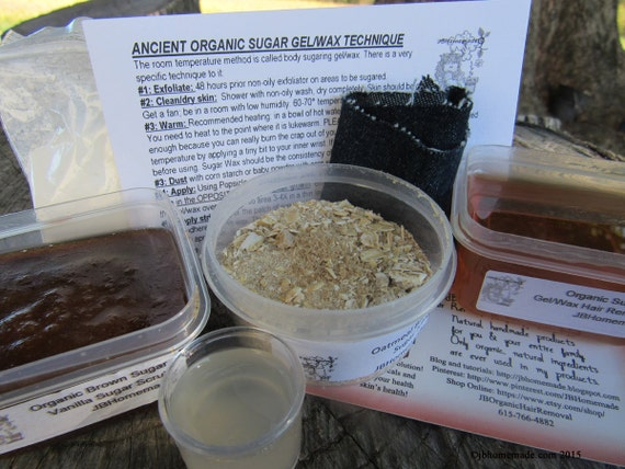 Natural Vanilla Brown Sugar Scrub Sugaring Wax Deluxe Starter Kit