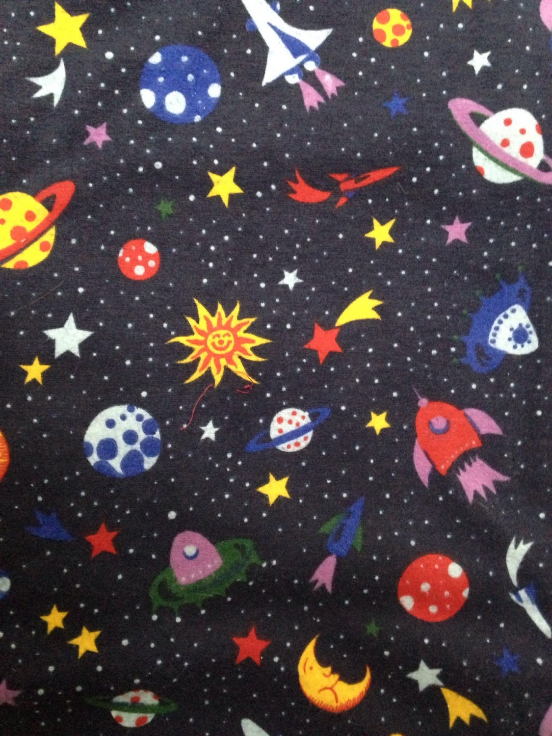 Super space novelty print fabric for Space flannel fabric