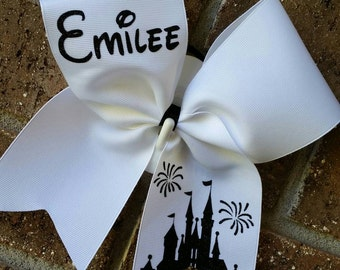 Disney Cheer bow, Personalized with name, choice of COLORS