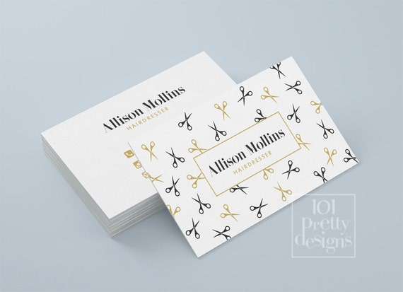 Hairdresser business card design golden business card template il570xn fbccfo Gallery