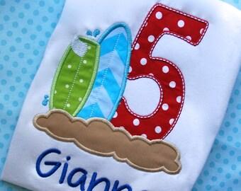 Surfboard Birthday Shirt, Summer Vacation Shirt, Summer Birthday Shirt, Teen Beach Movie