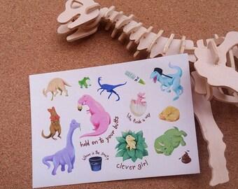 Jurassic Park sticker sheet