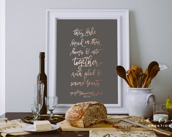 Break Bread Together (Acts 2:46) Print