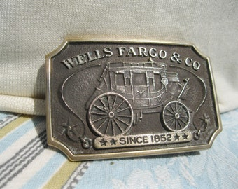 Wells Fargo Brass Buckle