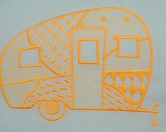 Retro Campers Canned Ham Style Single Dish Towels (Mix N Match Available)
