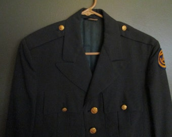 VINTAGE MILITARY Jacket Early 70'S   Size 36 L