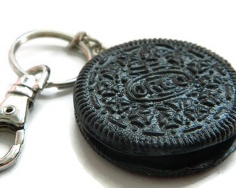 Polymer Clay Oreo Cookie Keyring Realistic