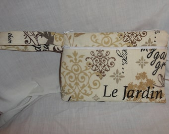 Le Jardin Wristlet Clutch Purse