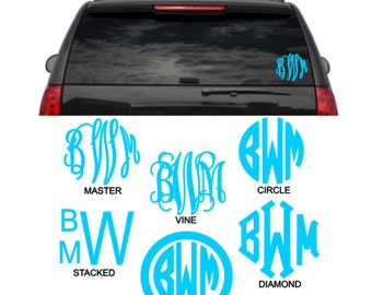 6 Inch Monogram Vinyl Decal